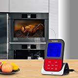 Digital | Wireless | Smoked Meat Thermometer | Instant Read Out | Preset for Grilling 8 different meats | Perfect instrument for Cooking on BBQ | Food Smoker | Twin Probes | Meat Smoker