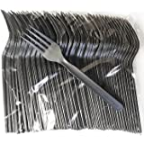 Compostable Heavyweight Disposable Forks - 100 COUNT CPLA FORKS - Eco Friendly Compostable Forks made from cornstarch
