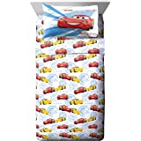 Jay Franco Disney Pixar Cars High Tech Full Sheet Set - 4 Piece Set Super Soft and Cozy Kid's Bedding Features Lightning McQu