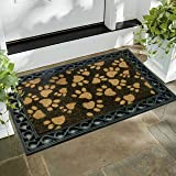 Fernish Decor Coir Jute and Rubber Heavy Door Mat, Virgin Rubber, Extremely Durable, Rectangle, for Home Entrance Door, Kitchen (55x75 cm, Beige)