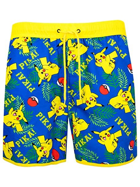 Amazon.com: Pokemon Mens Pikachu Swimming Trunks: Clothing