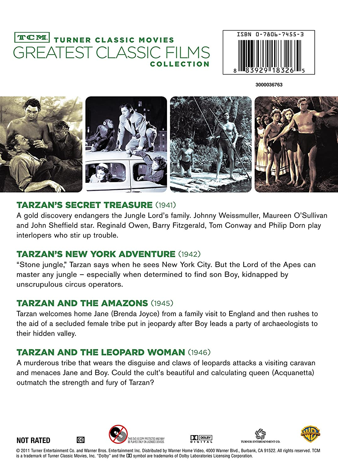 Amazon com: TCM Greatest Classic Films Collection: Tarzan
