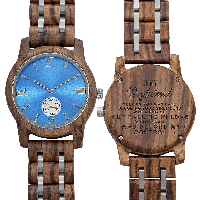 Amazon.com: Relojes de madera grabados personalizados para ...