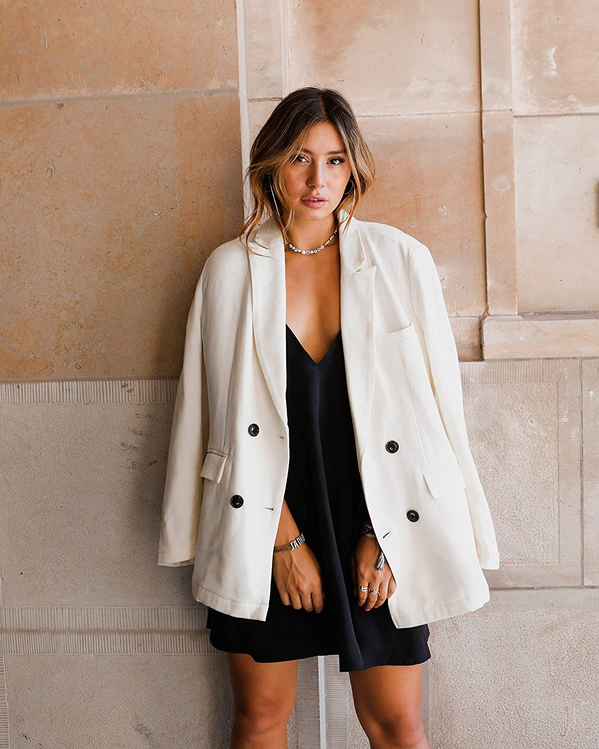 The Drop Blazer oversize à simple boutonnage pour femme Par