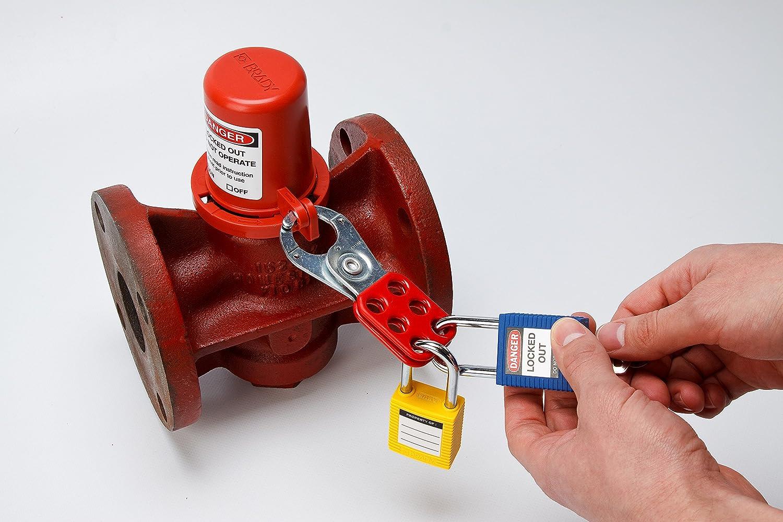 Brady Steel Lockout Hasp With Tab 1 Inside Jaw Diameter