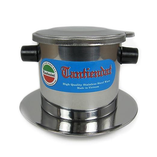 Vietnamita - Juego de filtros de café cafetera de goteo de acero ...