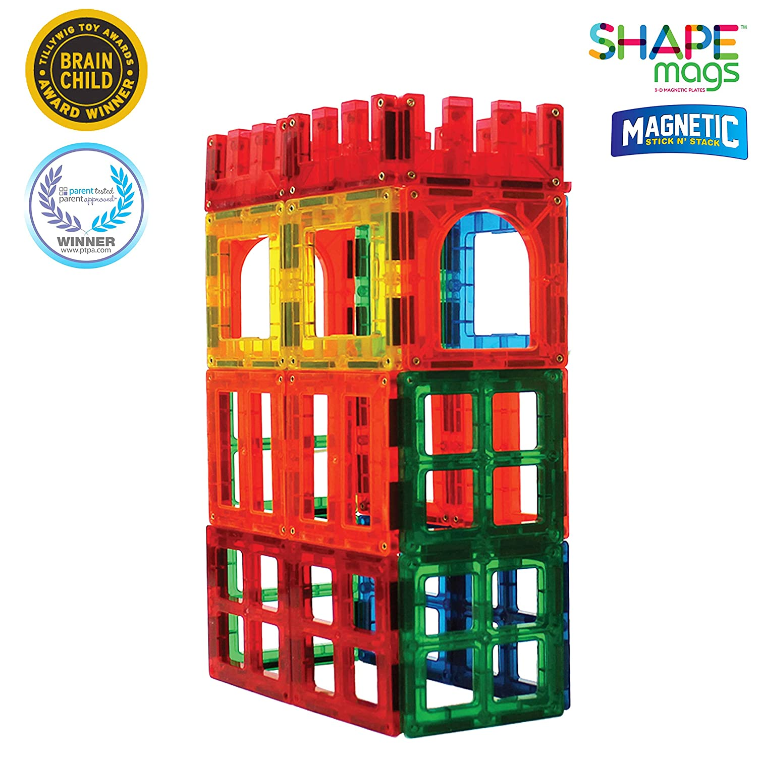 Award Winning Magnetic Stick N Stack 24 Piece Window, Fences and Doors Set. Made with Power+Magnets Review