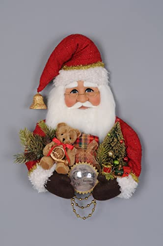Karen Didion Originals Red Vintage Santa Head Figurine, 20 Inches – Handmade Christmas Holiday Home Decorations and Collectibles
