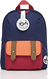 Babymel Mini Backpack and Safety Harness, Navy Colourblock,