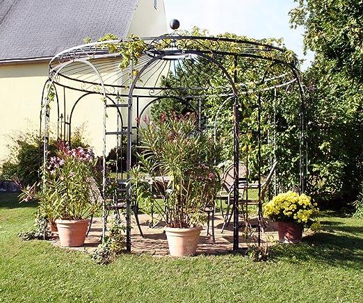 Glorieta para jardín, glorieta de metal, mirador, glorieta de rosas, glorieta estable Holanda Ø 350 cm (galvanizado): Amazon.es: Jardín