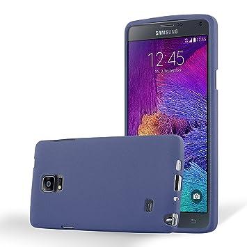 Cadorabo Funda para Samsung Galaxy Note 4 en Frost Azul ...