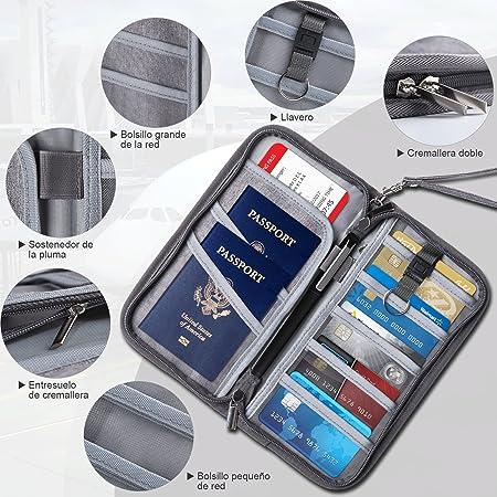 YISSVIC Cartera para Viaje Billetera Funda Pasaporte Bolsa Documentos Portadocumentos Protector de Viaje: Amazon.es: Equipaje