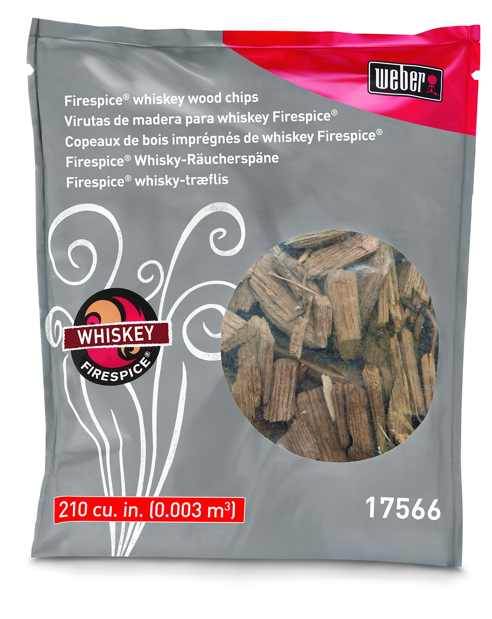 Weber-Stephen Products 17566 Natural Organic Whiskey Wood Chip, 3 lb product image