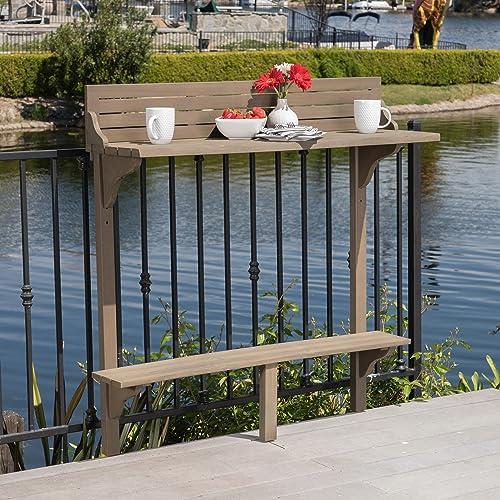 Christopher Knight Home 304145 Caribbean Balcony Bar Table, Grey Finish