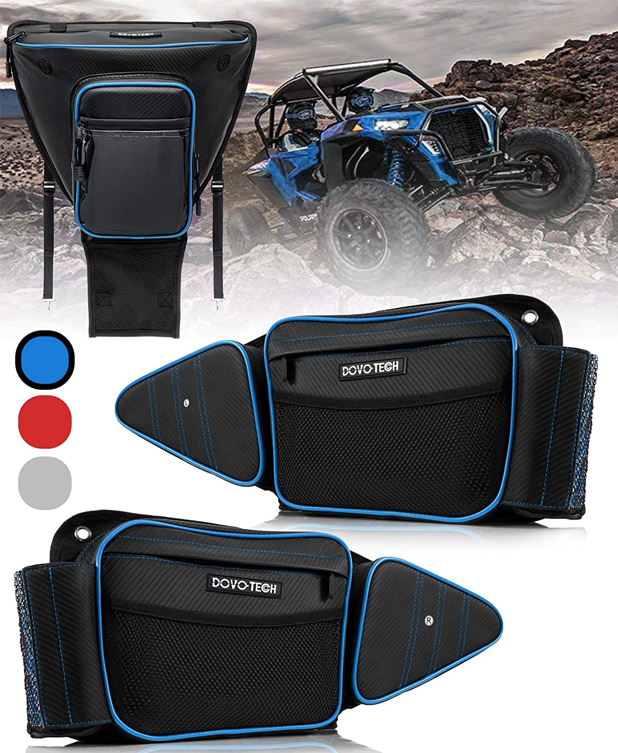RZR Door Bags and Center Seat Bag- SET of 3 Rzr Storage Bags are Unique solution for rzr 1000 accessories tools-side by side UTV Set of 3 compatible Polaris 2014-2019 Rzr 1000 Xp turbo (BLUE SET of 3)