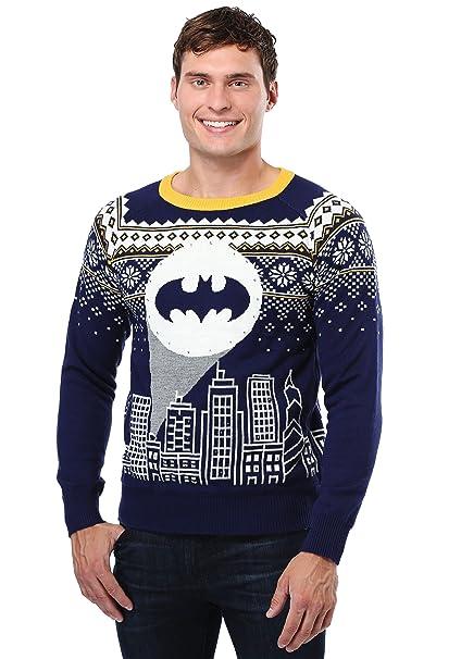 fun wear batman bat signal ugly christmas sweater medium