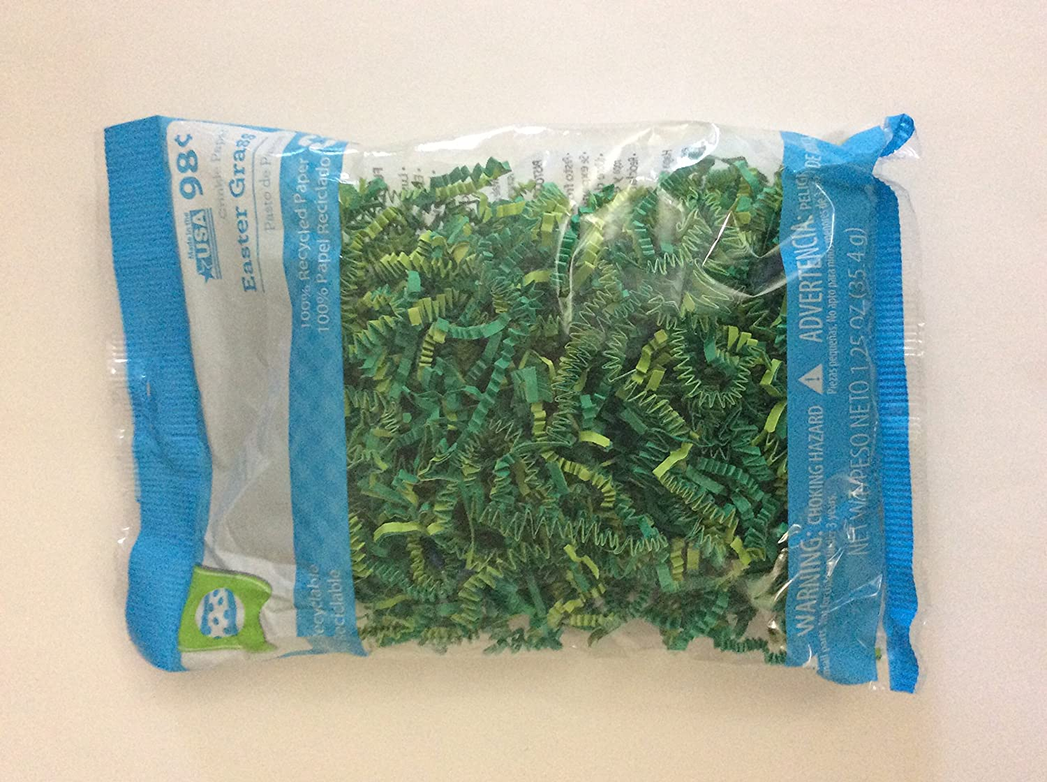 Green Crinkle Paper Easter Grass Wal-Mart