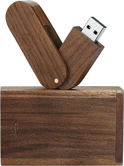 Memoria USB 8GB almacenamiento flash USB 2.0, de madera maciza Memory Stick Pendrive con Caja de Madera: Amazon.es: Electrónica