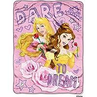 "Disney's Princesses, ""Dare to Dream"" Micro Raschel Throw Blanket, 46"" x 60"", Multi Color"
