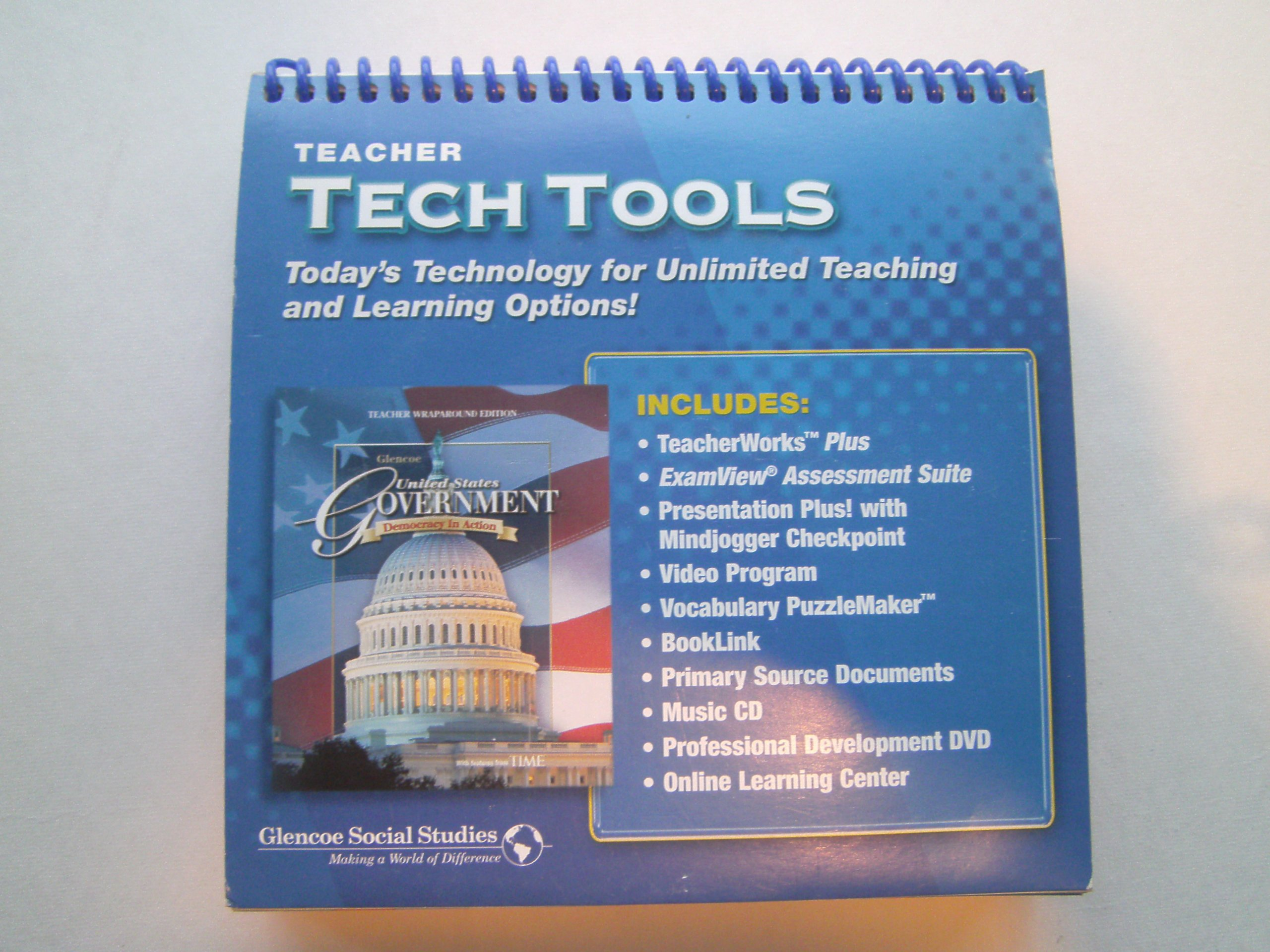 United Staes Government Democracy in Action 0 Teacher tech Tools: MacMillan  McGraw Hill Glencoe: 9780078784057: Amazon.com: Books