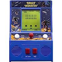 Basic Fun Arcade Classics, Juego de máquina pequeño, Space Invaders, Azul, 1 Talla