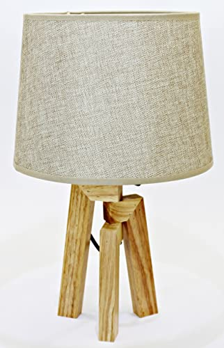 Deltabrinca Lights - Lámpara Mesa Wood Beige: Amazon.es: Iluminación