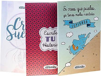 La mente es Maravillosa - Pack 3 libretas A5: Amazon.es: Oficina y papelería