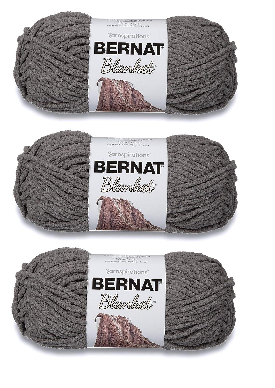 Bernat Bulk Buy Blanket Yarn (3-Pack) Dark Grey 161200-44