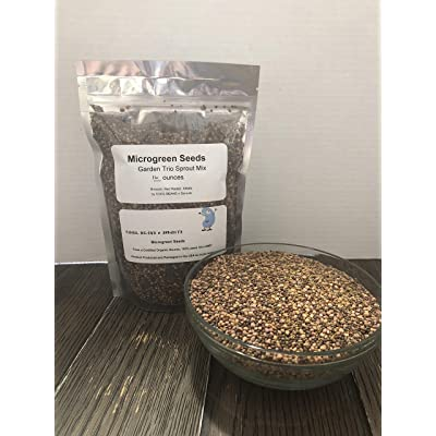 """COOL BEANS n SPROUTS"" Brand, Garden Trio Sprouting Mix Seeds, 1 Pound/ 16 Ounces, This is a Mix of Broccoli, Radish and Alfalfa Seeds. : Garden & Outdoor"