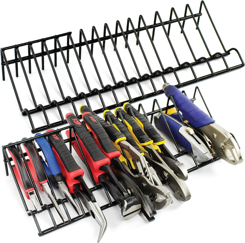 PLIERS RACK Garage Tool Storage Metal Plier Holder Organizer Work Tools Sorter