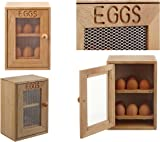 Wooden Cabinet Cupboard Style Egg Storage - holds a dozen (x12) eggs - 2 shelves with 6 slots each