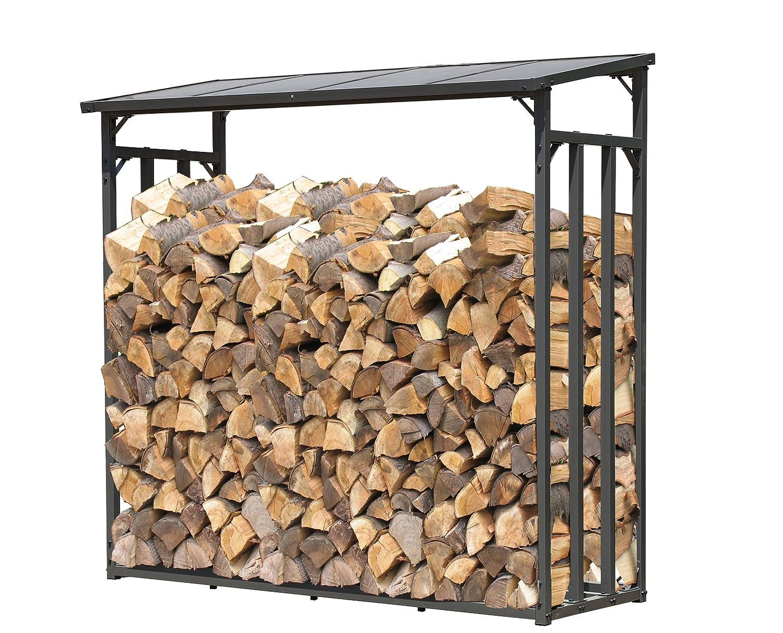 Quick-Star Support de bois de chauffage 143x70x145cm grille de bois de chauffage cheminée poêle à bois étagère Quick-Star GmbH