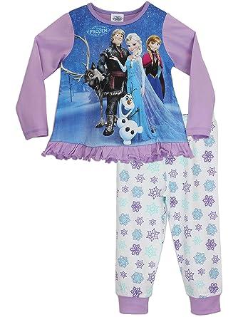 Disney La Reine Des Neiges - Ensemble de Pyjama - Fille - Anna Elsa Olaf   6b24ff77fde