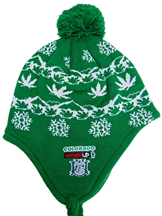 946a98be17539f Pot Leaf Snowflake Myxed Up Gear Unisex Earflap Beanie Hat at Amazon Men's  Clothing store: