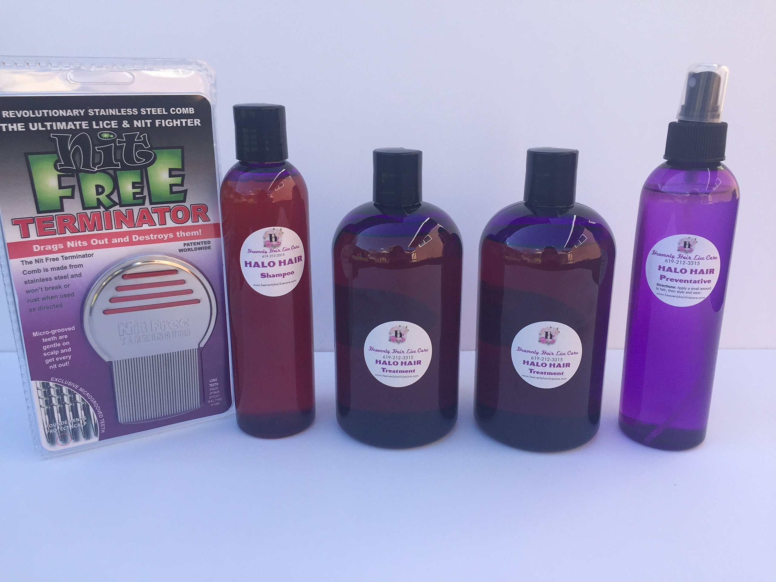 Terminates 100% of Super Lice- 100% of the time! Halo Hair Lice Kit