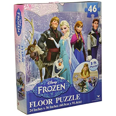 "Disney Frozen Floor Puzzle (46-Piece) 24"" x 36"" Styles Will Vary: Toys & Games"