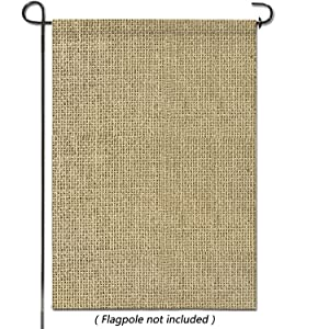"hblife Personalized Blank Burlap Garden Flag Happy Camper Banner Lawn Yard Outdoor Seasonal Holiday DIY Flag for New Home Gift Wedding Gift Housewarming Gift Home Decor,One-Sided 18"" H x 12"" W"