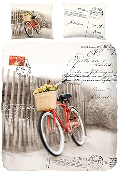 Edredon Bicicleta.Good Morning Para Cama De Matrimonio Algodon 100 Por Ciento
