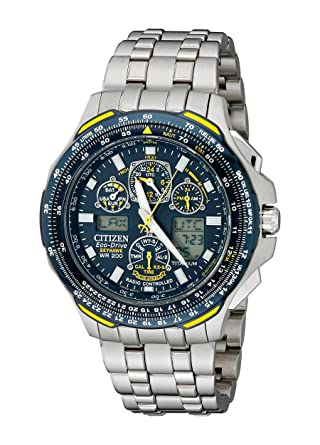 d4724f1b80a Citizen Men s JY0050-55L Blue Angels Skyhawk A-T Titanium Eco-Drive Watch