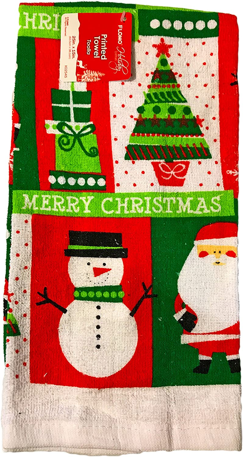 Amazon.com: Christmas Printed Kitchen Set- Towels, Oven Mitts, & Pot Holders (Character): Home & Kitchen
