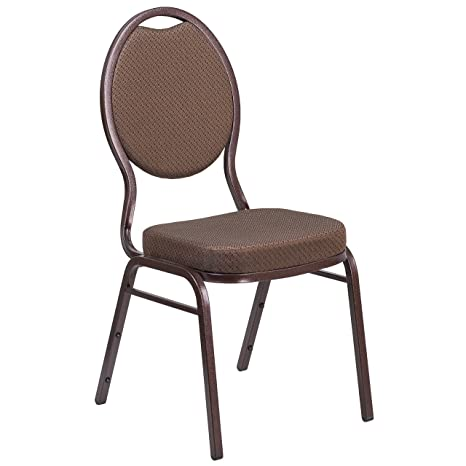 Admirable Flash Furniture Hercules Series Teardrop Back Stacking Banquet Chair In Brown Patterned Fabric Copper Vein Frame Ocoug Best Dining Table And Chair Ideas Images Ocougorg