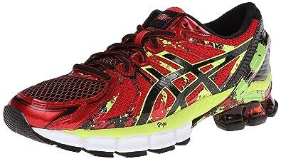 asics running shoes men red