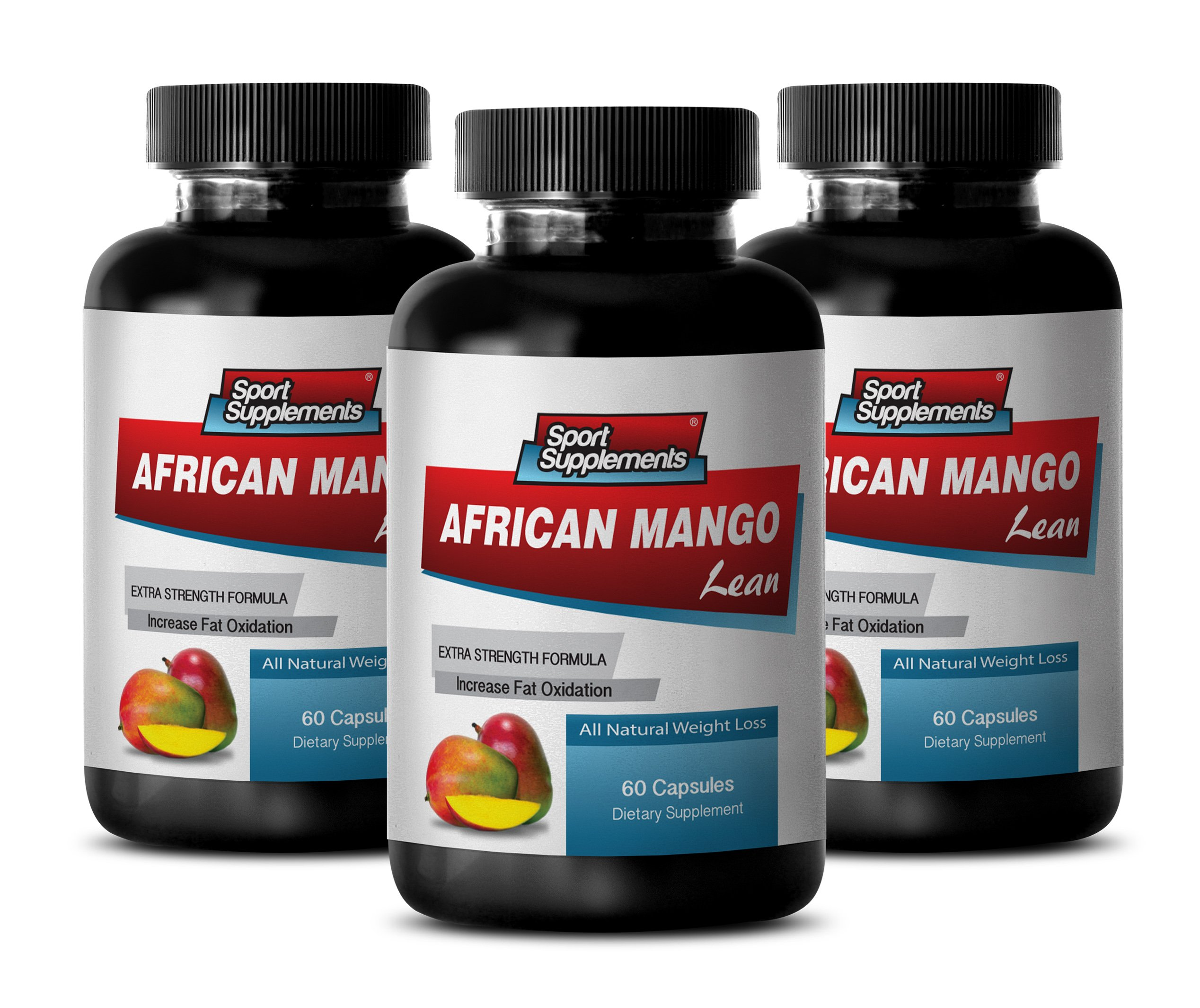 Weight loss diet fat supplements - AFRICAN MANGO EXTRACT with Green Tea, Resveratrol, Kelp, Grapefruit 1200 Mg - African mango slender - 3 Bottles 180 capsules by Sport Supplements