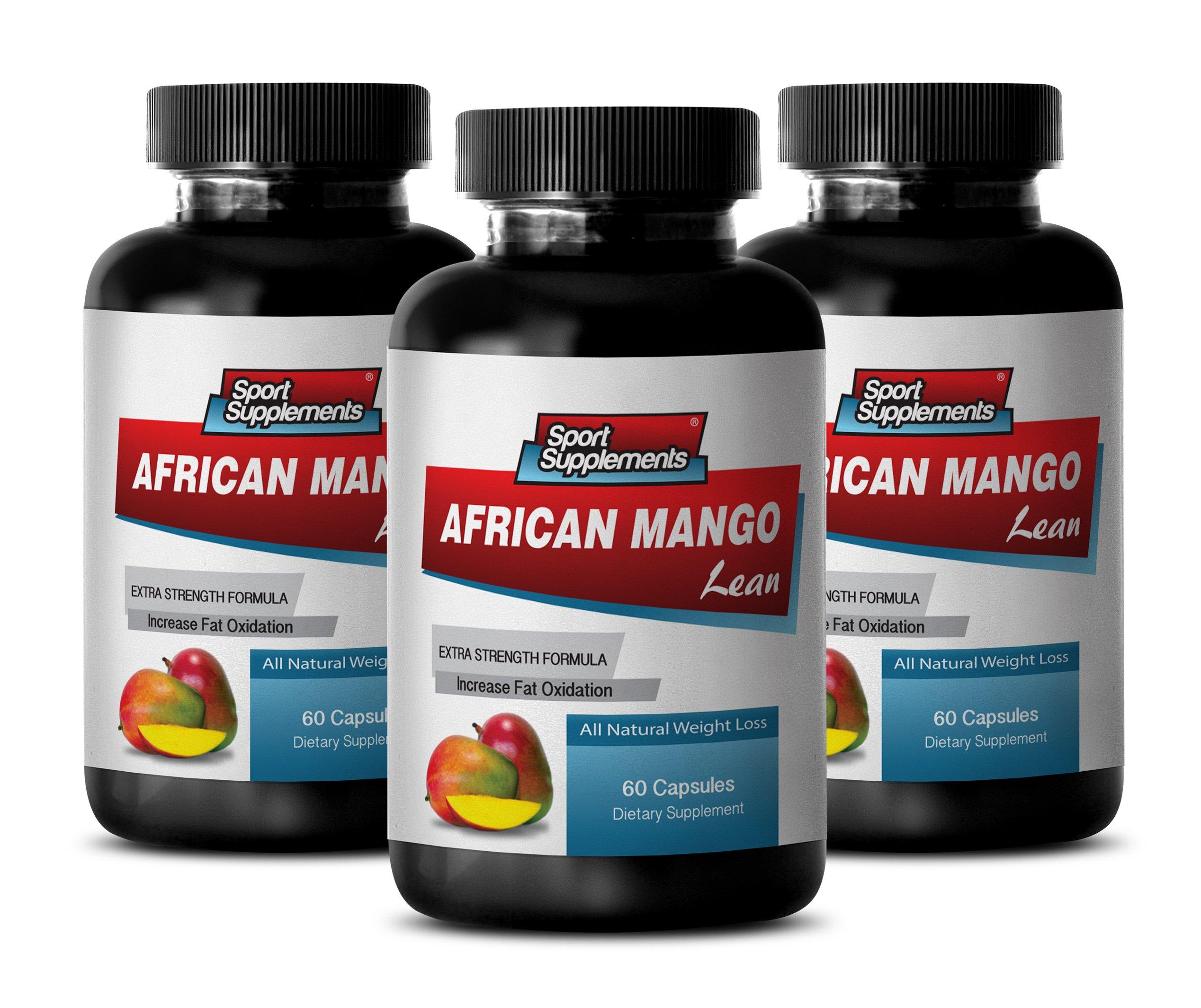 Natural diet aid - AFRICAN MANGO EXTRACT with Green Tea, Resveratrol, Kelp, Grapefruit 1200 Mg - Irvingia gabonensis supplements - 3 Bottles 180 capsules