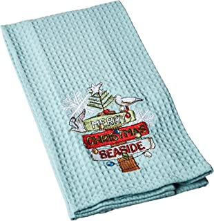 Kay Dee Designs H0531 Holiday Merry Seaside Embroidered Waffle Towel