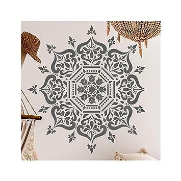 Schablone Für Indisches Mandala Wandbild 100 Cm Amazon De Baumarkt