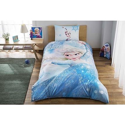 TI Home Disney Frozen Glitter Licensed Duvet Cover Set, 100% Cotton Ranforce, Single
