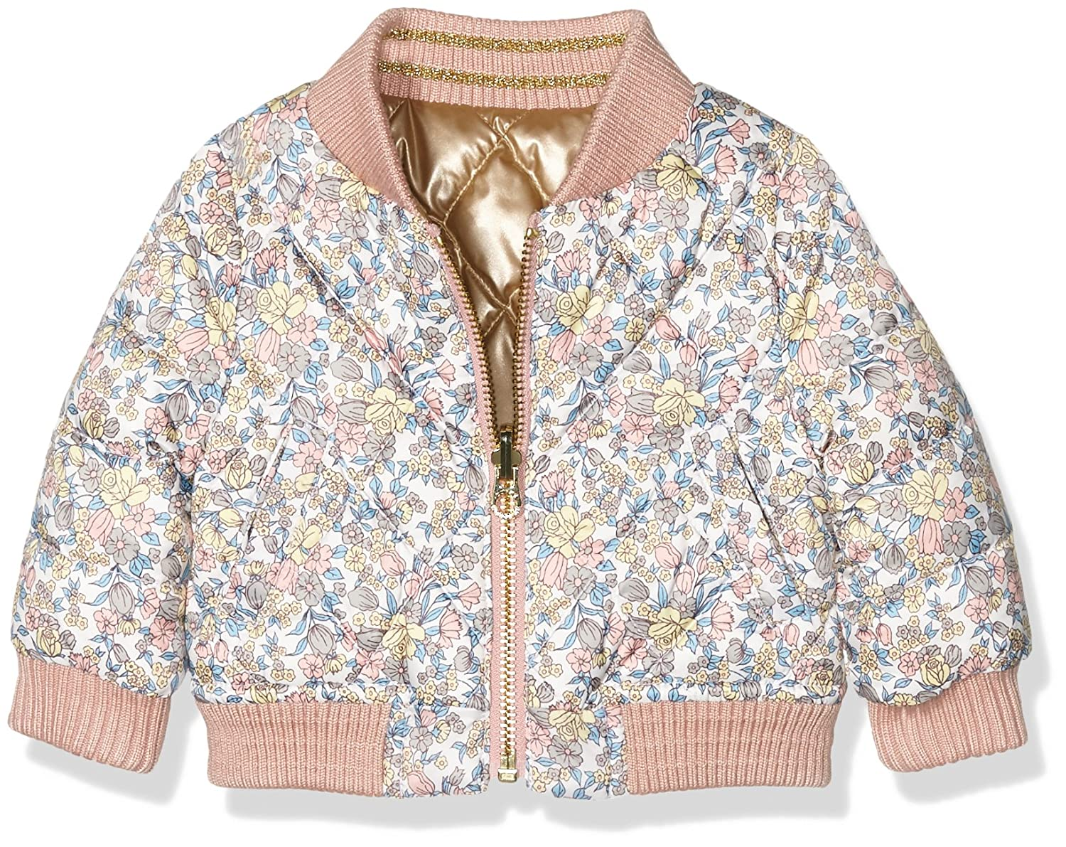 Juicy Couture Baby-Mädchen Jacke Hw Floral Reversible Puffer