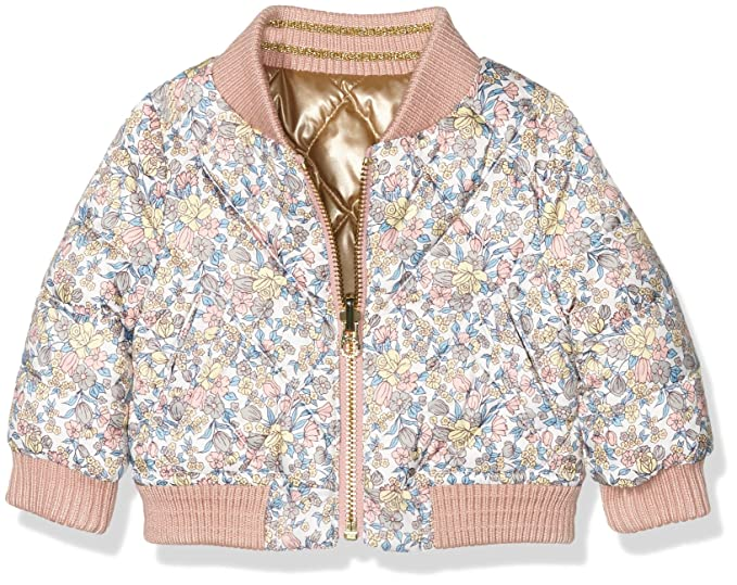 4c653d19 Juicy Couture Baby Girls 0-24m HW Reversible Puffer Jacket ...