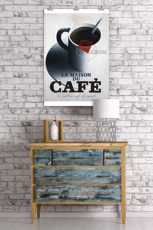 Amazon.com: La Maison du Cafe Vintage Poster (artist ...